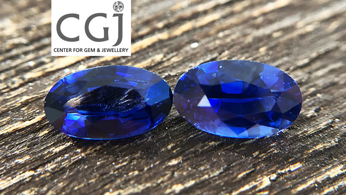 Certified - 0.82ct - Royal Blue Sapphire Pair