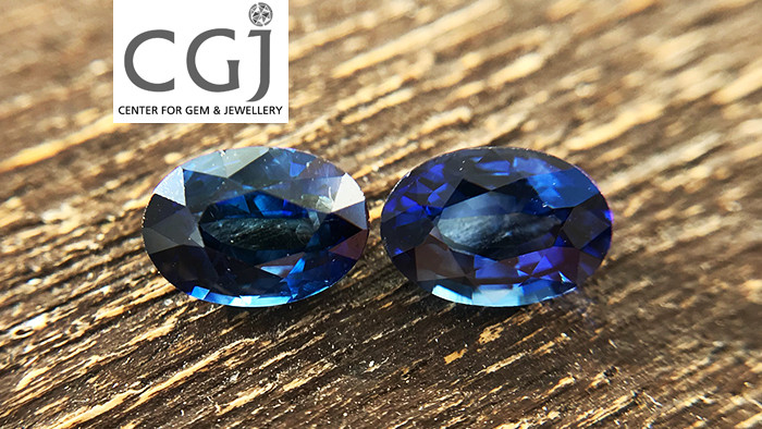 Certified - 1.76ct - Royal Blue Sapphire Pair