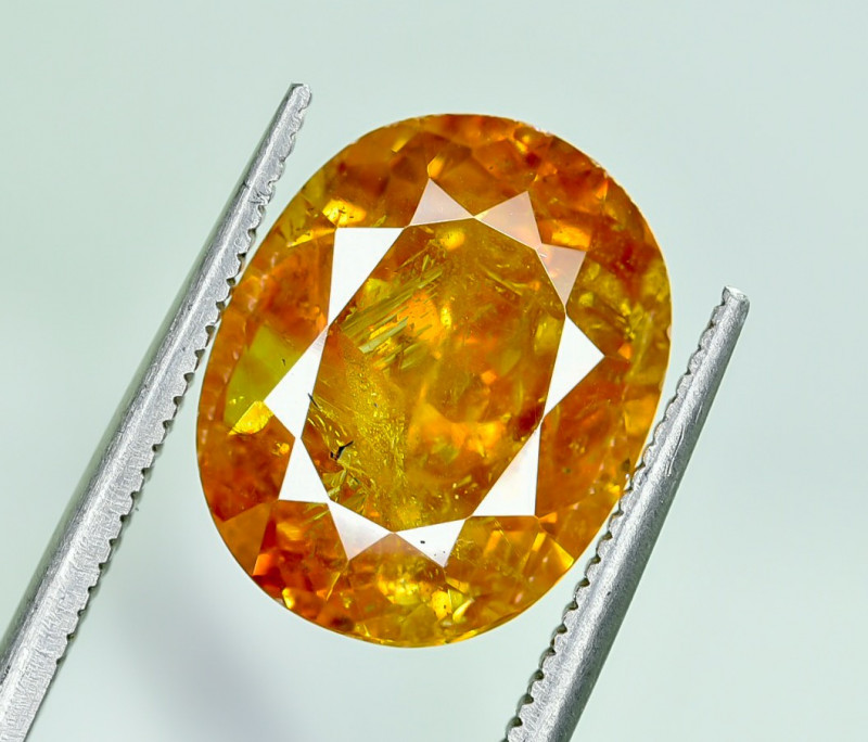 8.76 Crt AIG Certified Sphalerite Faceted Gemstone