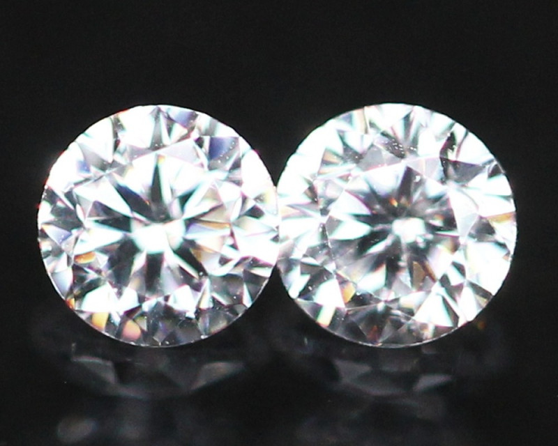 1.70mm D/E/F VVS Natural Round Brilliant Cut Diamond Pair