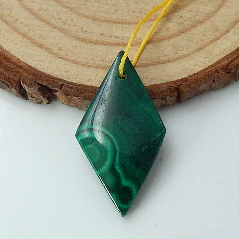 Green Malachite Pendant Bead ,Healing Stone ,Wholesale Jewelry C56