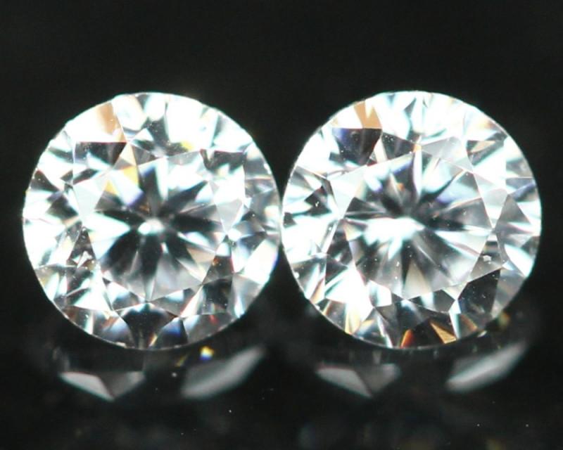 1.60mm D/E/F VS Natural Round Brilliant Cut Diamond Pair