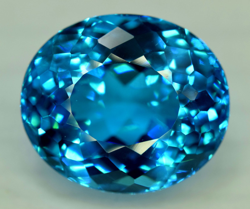 48.75 cts Electric Blue Topaz Gemstone