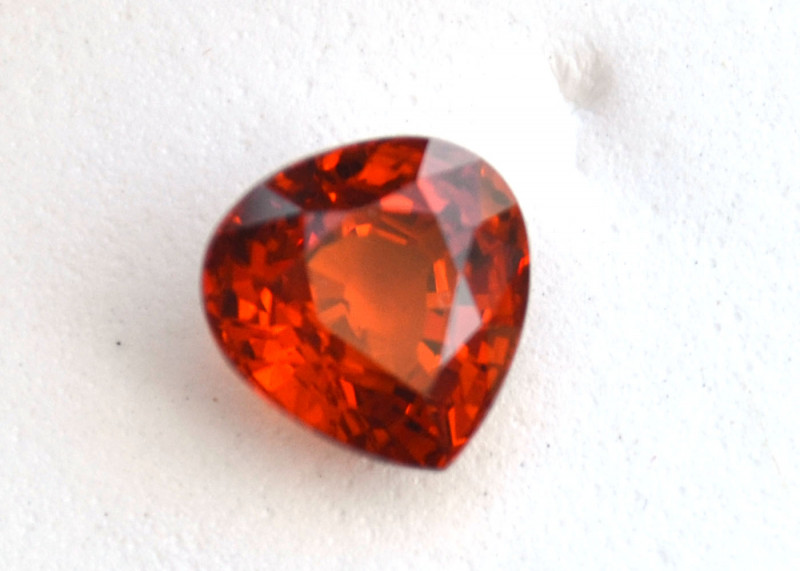 4.00 Carat Top Quality Pear Cut Spessartite Garnet