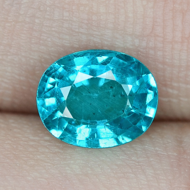 1.18 Cts UN HEATED NEON BLUE COLOR   NATURAL   APATITELOOSE GEMSTONE