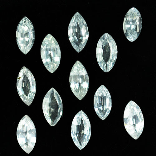 4.87Ct Natural White Sapphire Marquise Parcel 7.00 X 3.50mm