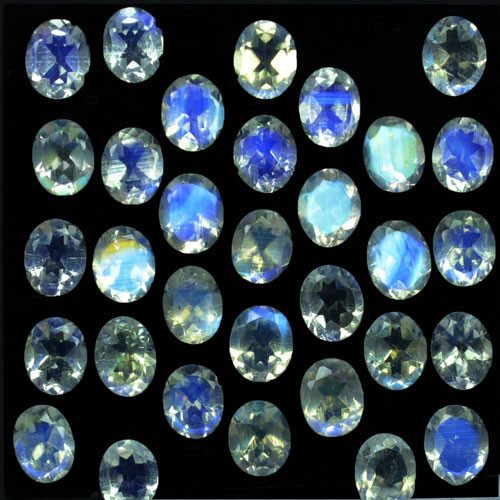 10.07Ct Natural Blue Moon Stone Oval 5 X 4mm Calibrated Parcel