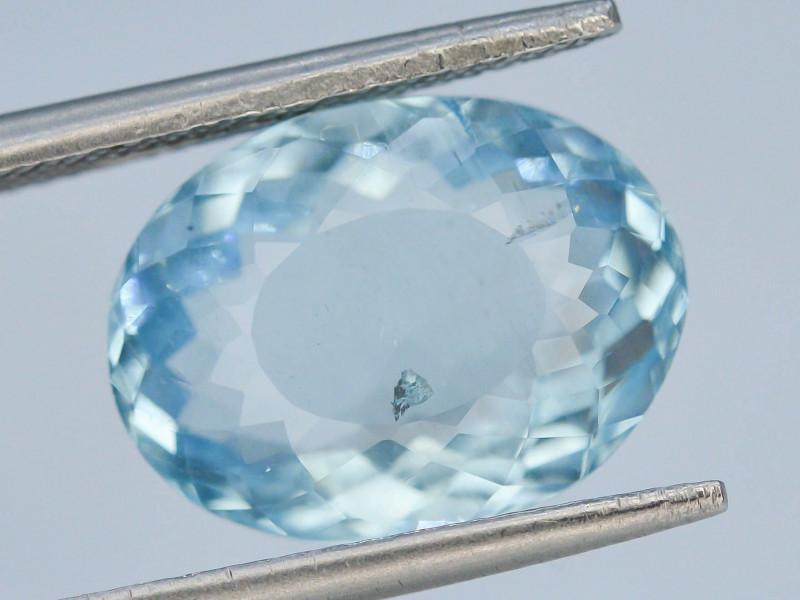 GIL ~ Certified 5.41 ct Natural Untreated Aquamarine