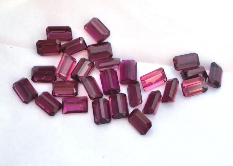 16.81 Carat Bright Raspberry Red Tourmalines
