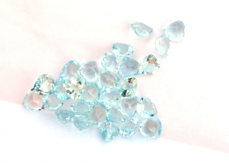 8.00 Carat Parcel of Top Quality Aquamarine Hearts
