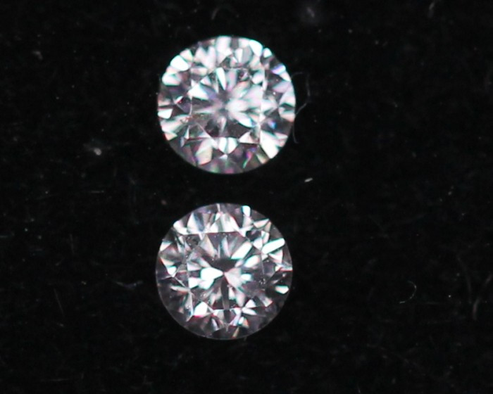 1.90mm Natural Light Pink To White Diamond Clarity VS Lot LZ2241