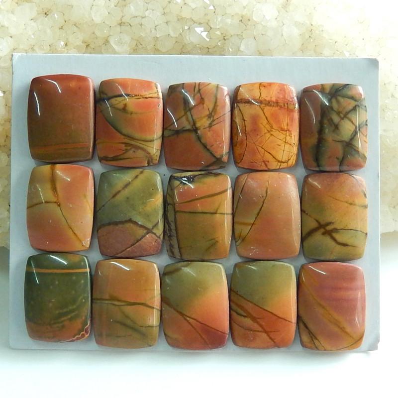 Sale Beautiful Multi Color Jasper Cabochon Beads ,Healing Stone C106