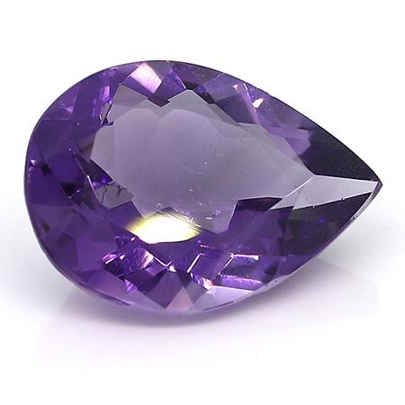 6.26 ct Pear Shape Rich Purple Amethyst