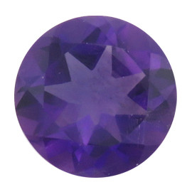 3.05 ct Round Deep Rich Purple Amethyst