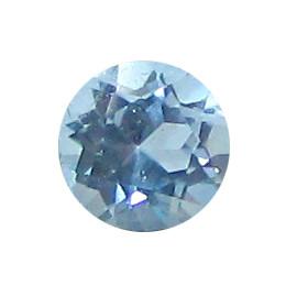 0.89 ct Round Fine Blue Aquamarine
