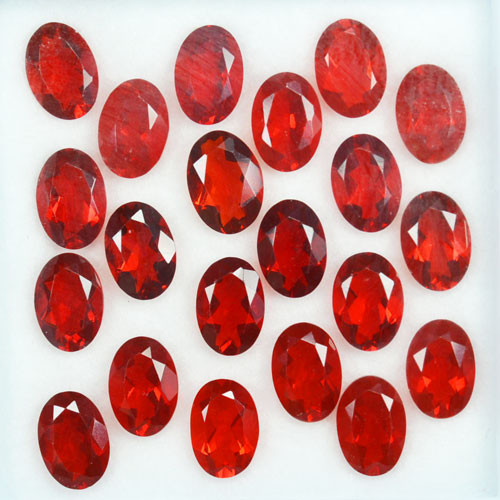 8.50Ct Natural Mexican Red Fire Opal Oval 6 X 4mm Calibrated Parcel