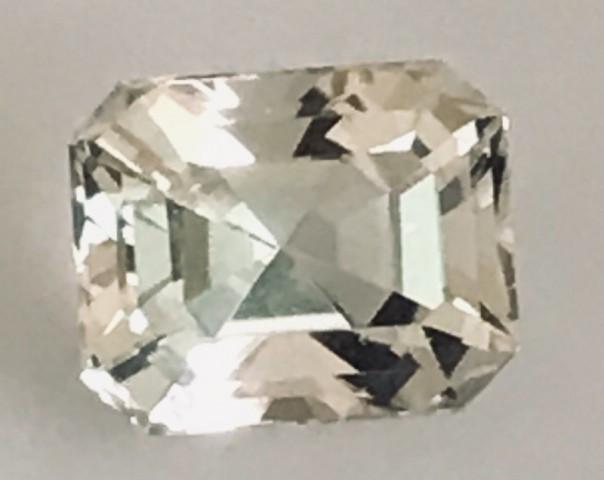 Emerald Cut 7.4ct Unheated Topaz - Pakistan - G498