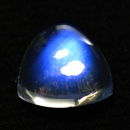 1.85Ct Natural Royal Blue Moon Stone Trillion Cab 8mm