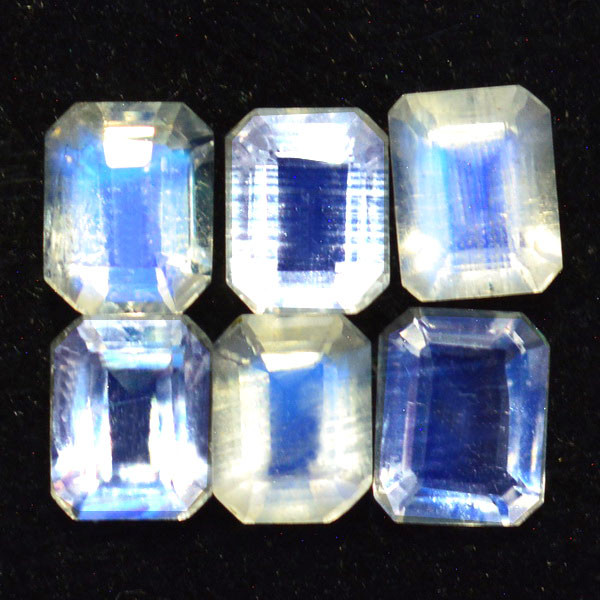 2.47 Cts BEAUTIFUL NATURAL BLUE MOONSTONE (4X5mm) OCTAGON FACETED