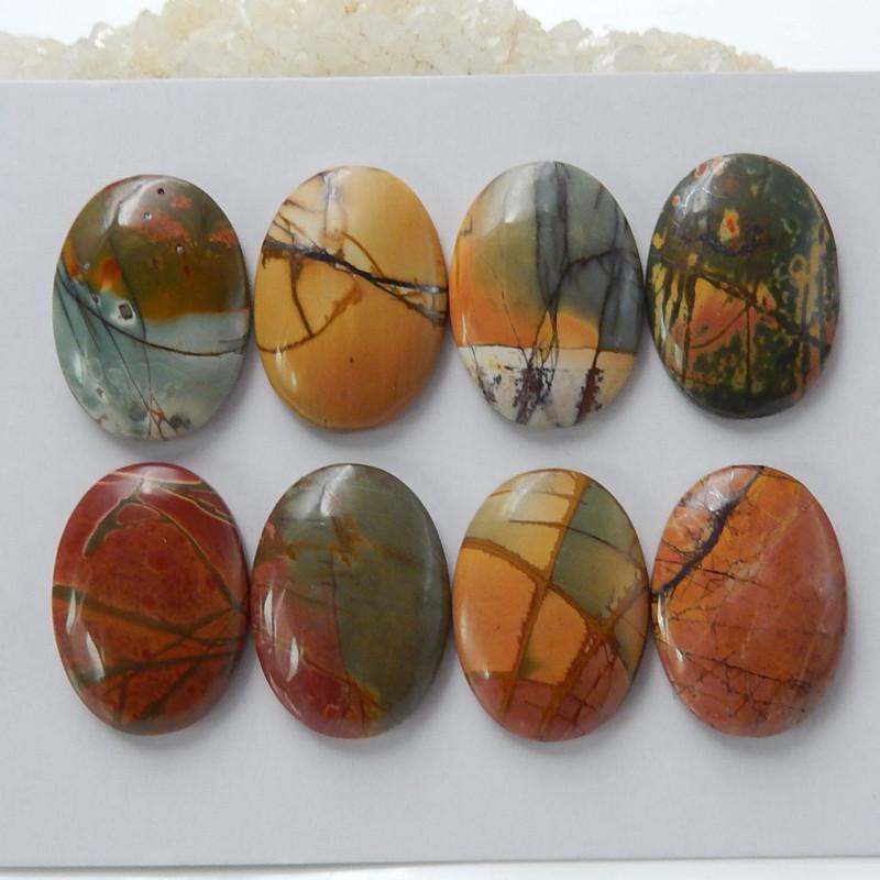 Wholesale Gemstone Multi Color Jasper Cabochon Round Beads C122