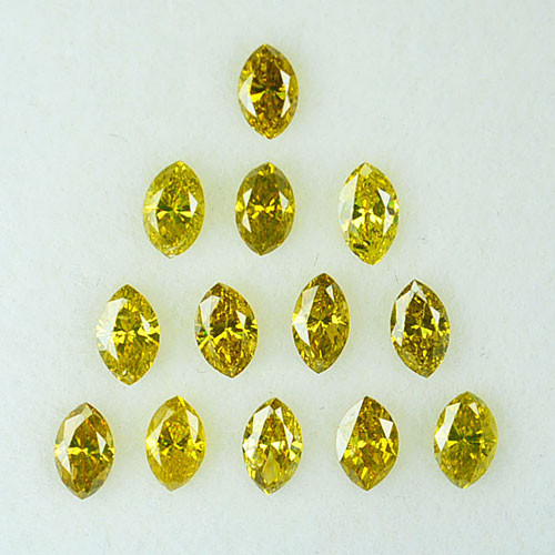 1.22Ct Natural Canary Yellow Diamond Marquise Parcel