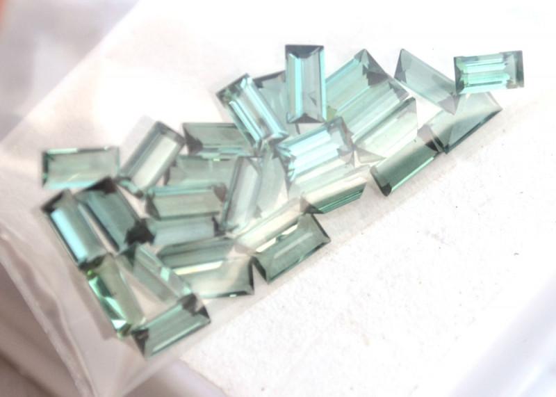 6.55 Carat Parcel of Top Color Blue-Green Tourmaline Baguettes