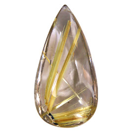 29.45 ct Yellow Pear Shape Rutile