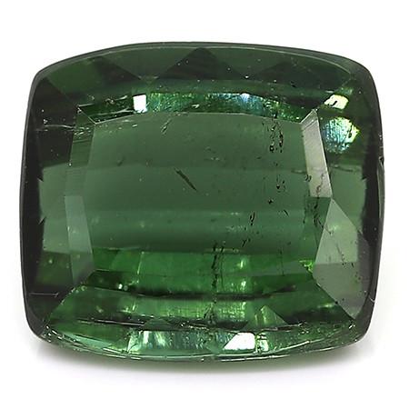 2.71 ct Rich Green Cushion Cut Tourmaline