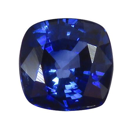 0.94 ct Rich Royal Blue Cushion Cut Blue Sapphire