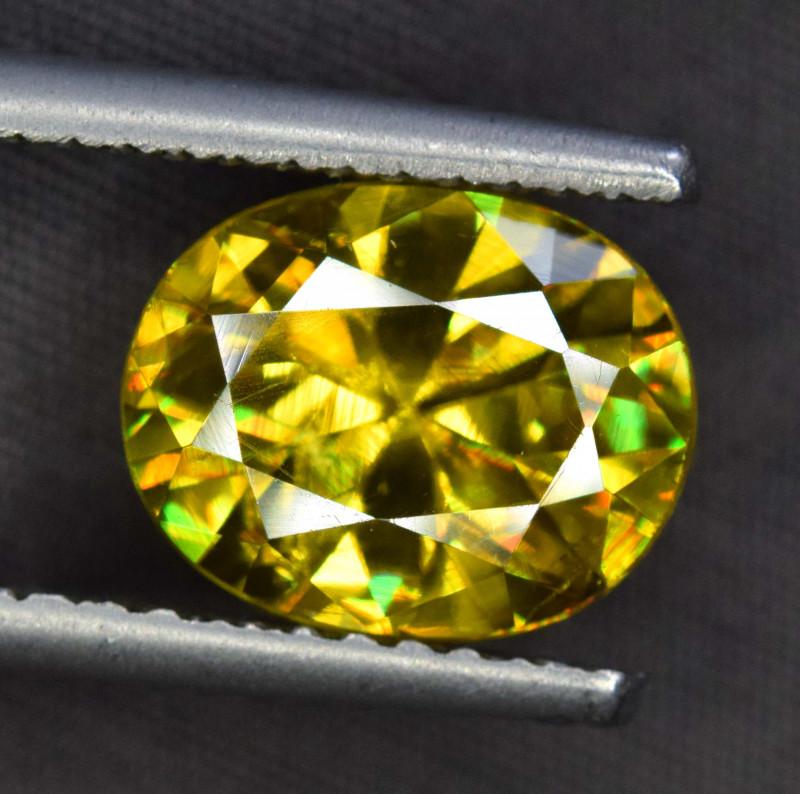 3.95 Carats Full Fire Sphene Titanite Gemstone