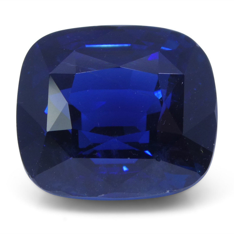 8.04 ct Cushion Natural Sapphire GIA Certified Ethiopian Unheated with Insc