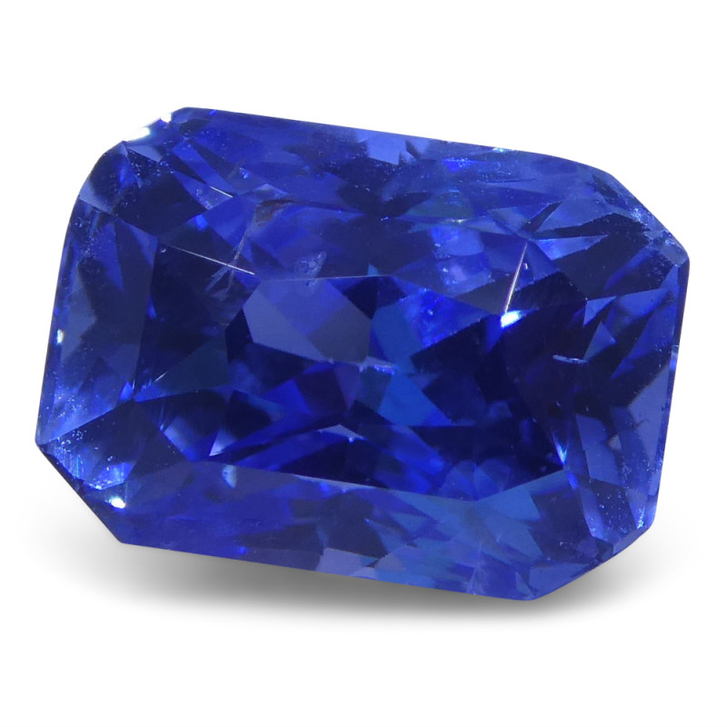 3.64 ct Emerald Cut Sapphire GIA Certified Sri Lankan with Inscription