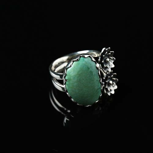 turquoise Ring handmade customizable Ring, silver ring Gift For Her J0119