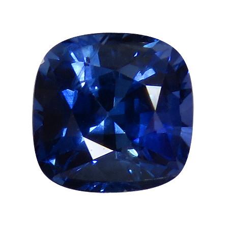 1.10 ct Cushion Cut Blue Sapphire (Rich Royal Blue)