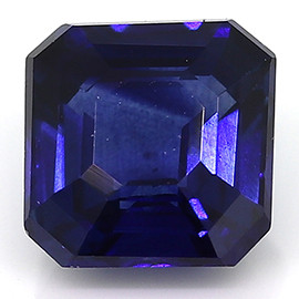 0.76 ct Emerald Cut Blue Sapphire (Rich Royal Blue)