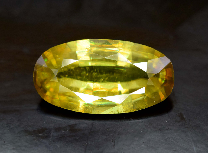 4.45  Carats Full Fire Sphene Titanite Gemstone