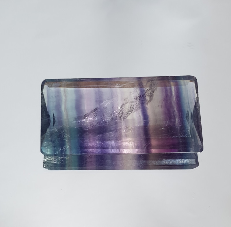 85.89 Ct Banded Fluorite Rectangular Big Stone ( SKU 20)