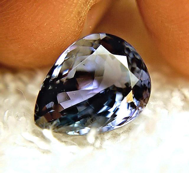 CERTIFIED - 6.42 Carat VVS/VS African Bluish Violet Tanzanite - Gorgeous