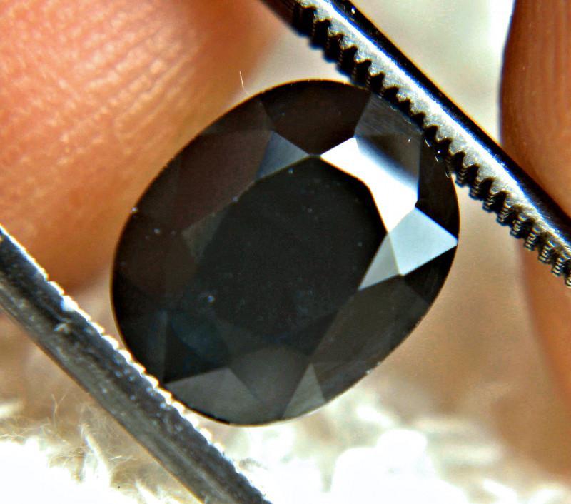 3.7 Carat Natural Blue / Black Sapphire - Gorgeous