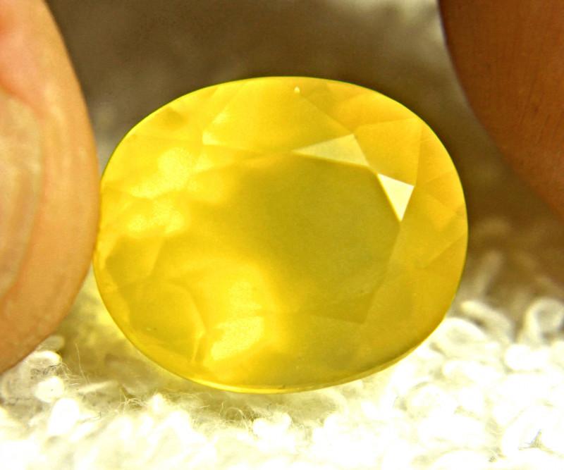 8.64 Carat Yellow Mexican Fire Opal - Beautiful