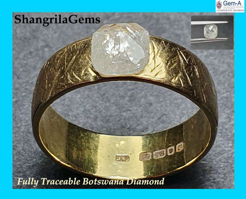 1.02ct 6.2mm Salt Pepper Rosecut octagon square diamond Video 6.2mm by 5.7