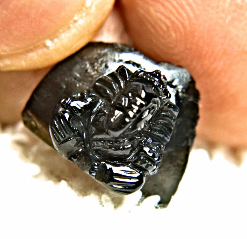 14.73 Carat Black Sapphire Carving - Gorgeous