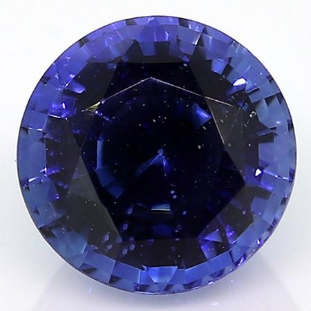 0.53 ct Deep Rich Blue Round Blue Sapphire