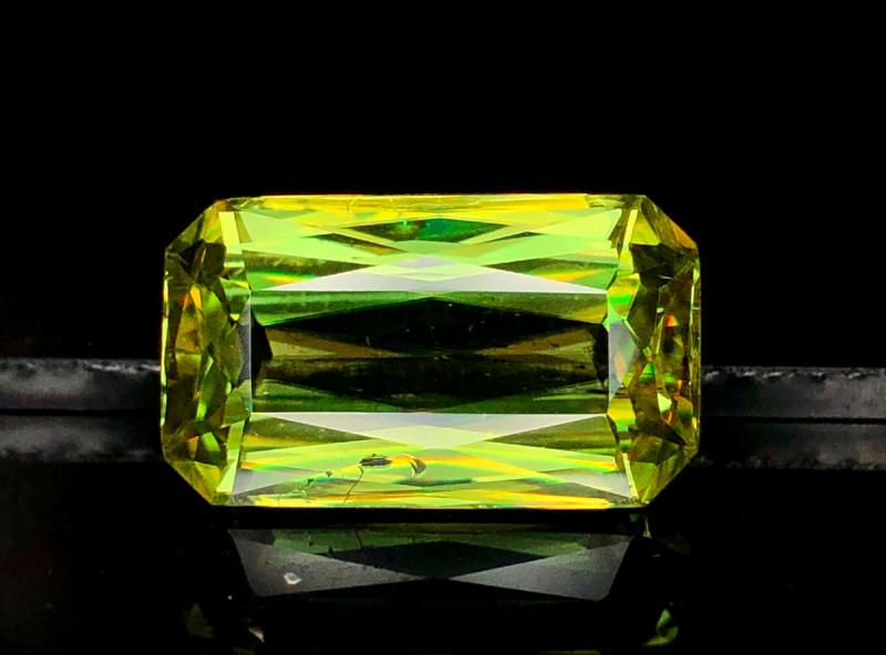 5  Carats Radiant Cut Full Fire Sphene Titanite Gemstone