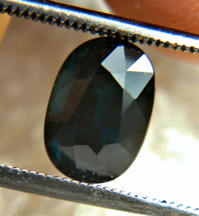 3.16 Carat Midnight Blue Natural Sapphire - Gorgeous