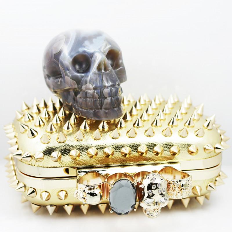 Crystal Jasper Skull with Bonus Skull Purse   WS 1011