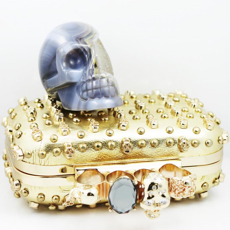 Crystal Jasper Skull with Bonus Skull Purse   WS 1009