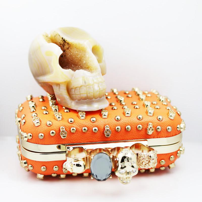 Crystal Jasper Skull with Bonus Skull Purse   WS 1003
