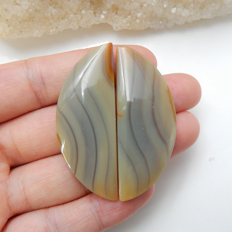 Sale Natural Agate Cabochon Pairs ,Healing Stone ,Lucky Gemstone C169