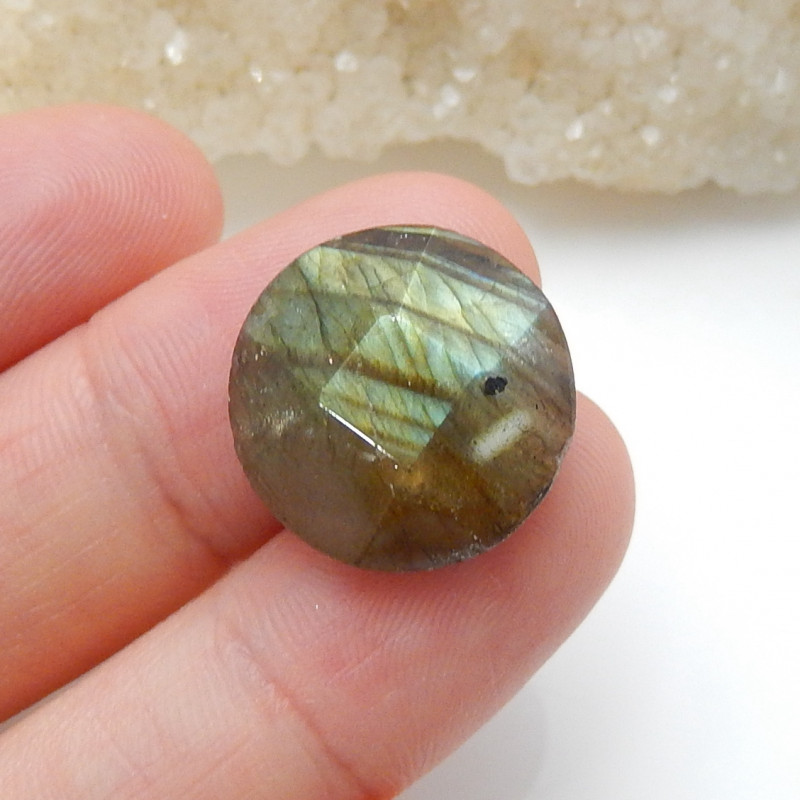 Flash Labradorite ,Handmade Gemstone ,Round Faceted Labradorite ,Lucky Ston